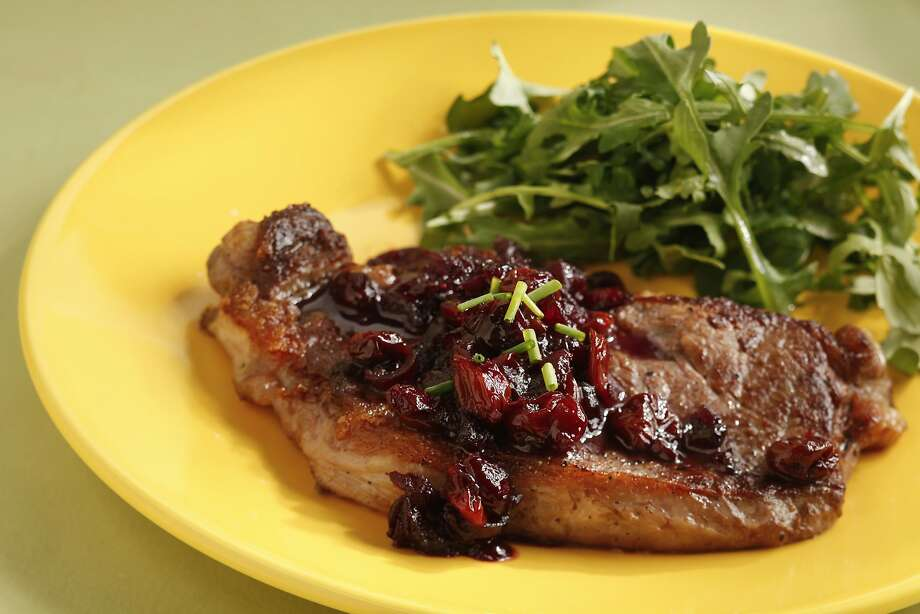 New York Strip Steak With Wine-Stewed Fruit Compote Photo: Craig Lee, Special To The Chronicle
