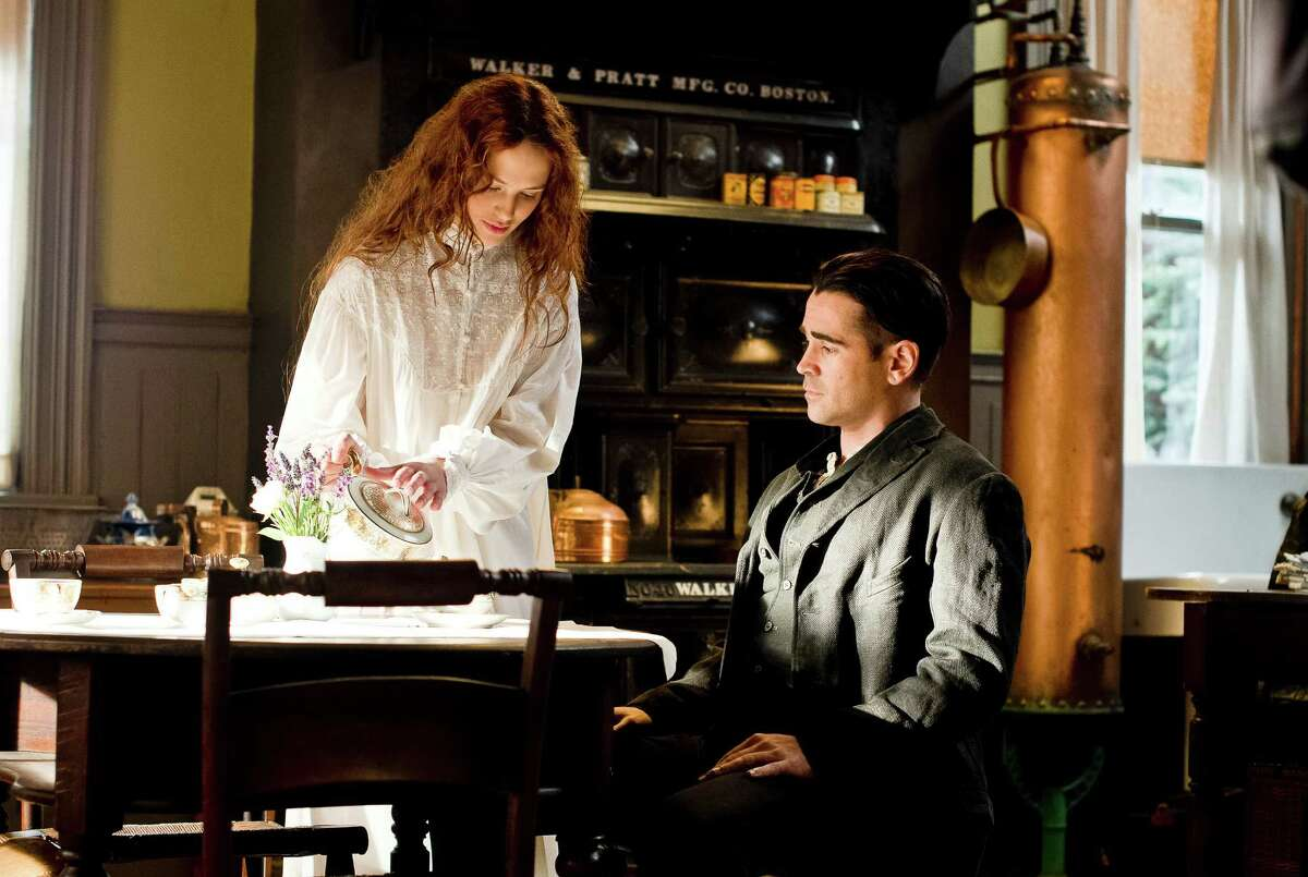 """Peter (Colin Farrell) is swept away by Beverly (Jessica Brown Findlay) after meeting the young heiress while attempting to rob her house in """"Winter's Tale."""""""