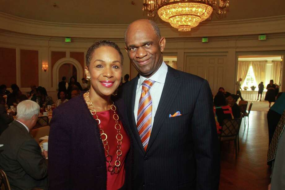 (For the Chronicle/Gary Fountain, November 1, 2013) Chairs  Suzette and Kirbyjon Caldwell at the Prayer Institute Luncheon. Photo: Gary Fountain, Freelance / Copyright 2013 Gary Fountain.