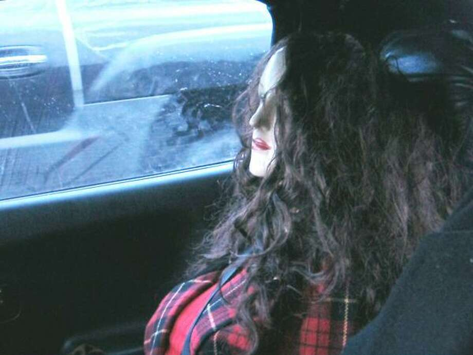 This lady has a '90s look about her, no? She and her driver were pulled over Feb. 13, 2014 on I-405 near Woodinville. Photo: Washington State Patrol