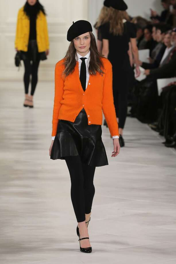 A model walks the runway at the Ralph Lauren fashion show during Mercedes-Benz Fashion Week Fall 2014 at St. John Center Studios on February 13, 2014 in New York City.  (Photo by Neilson Barnard/Getty Images for Mercedes-Benz Fashion Week) Photo: Neilson Barnard, (Credit Too Long, See Caption)