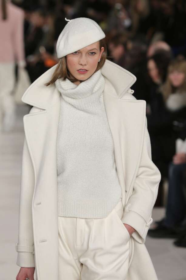 Model Karlie Kloss walks the runway at the Ralph Lauren fashion show during Mercedes-Benz Fashion Week Fall 2014 at St. John Center Studios on February 13, 2014 in New York City.  (Photo by Neilson Barnard/Getty Images for Mercedes-Benz Fashion Week) Photo: Neilson Barnard, (Credit Too Long, See Caption)