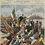 Feminism is ... women blocking traffic during a rural strike in 1901.