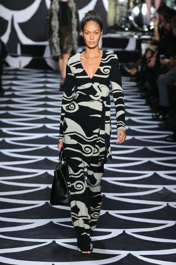 A model walks the runway at the Diane Von Furstenberg fashion show during Mercedes-Benz Fashion Week Fall 2014 at Spring Studios on February 9, 2014 in New York City.  (Photo by Neilson Barnard/Getty Images for Mercedes-Benz Fashion Week) Photo: Neilson Barnard, (Credit Too Long, See Caption)
