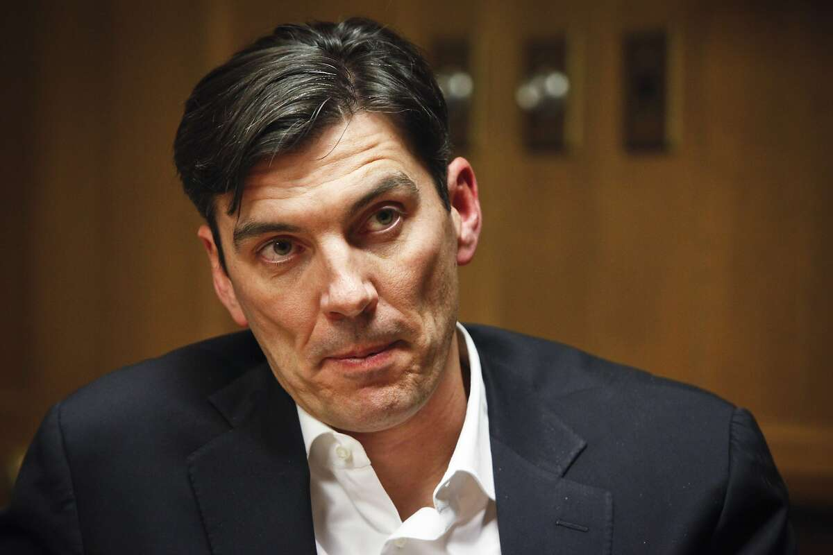 Tim Armstrong, CEO of AOL, talks about the company and its future on Thursday, Dec. 1, 2011 in San Francisco, Calif.