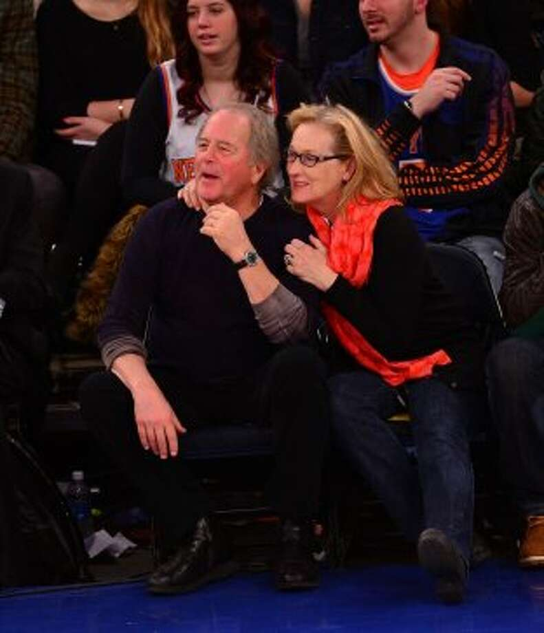 Oscar winner Meryl Streep and sculptor Don Gummer married in 1978 and raised four kids together. Here they are at a Lakers vs Knicks game in NYC. Photo: James Devaney, GC Images