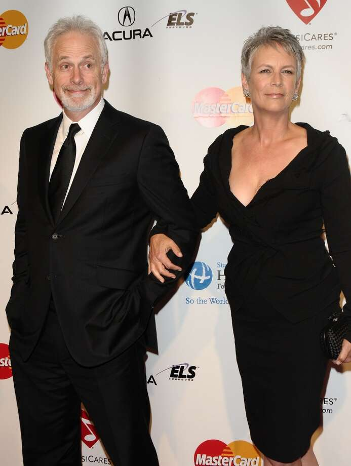"Actress Jamie Lee Curtis and actor/writer Christopher Guest — of ""This Is Spinal Tap"" and ""Best in Show"" fame — were married in 1984. Oh, and they are technically royalty. They are Lord and Lady Haden-Guest, which they became after Guest inherited the Barony of Haden-Guest following his father's death. We bow. Photo: Jason LaVeris, FilmMagic"