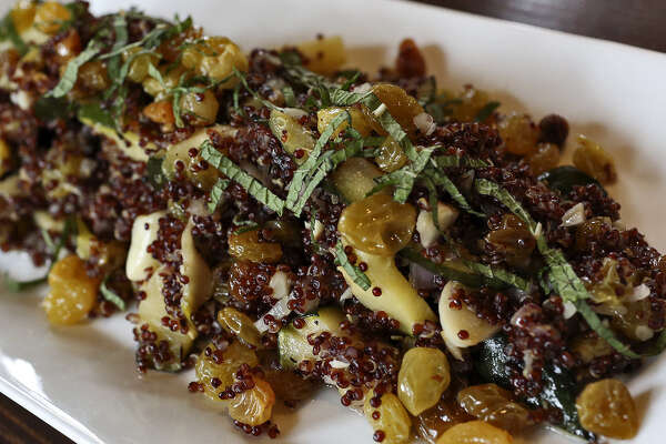 Red quinoa (pronounced KEEN-wah) is the main ingredient in this offering at the  Boiler House Texas Grill & Wine Garden at The Pearl.