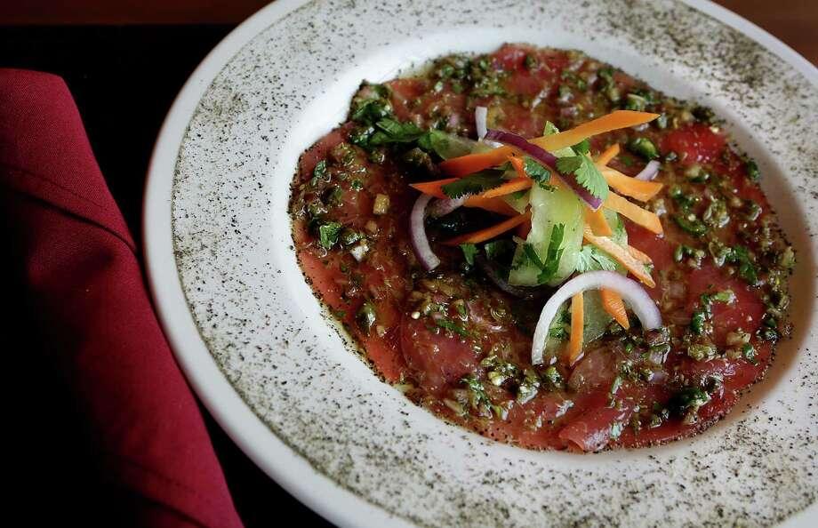 The Tuna Carpaccio at Costa Pacifica on 1604. Monday, Feb. 10, 2014. Photo: San Antonio Express-News / © 2012 San Antonio Express-News