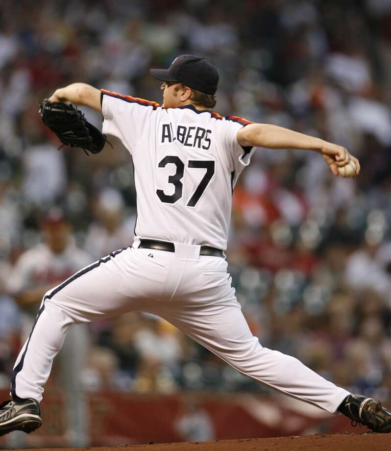 "40-man roster - Pitcher #37 Matt Albers  6' 1"" - 225 pounds - 31 years old  Bats: L Throws: R Photo: Karen Warren, Houston Chronicle"