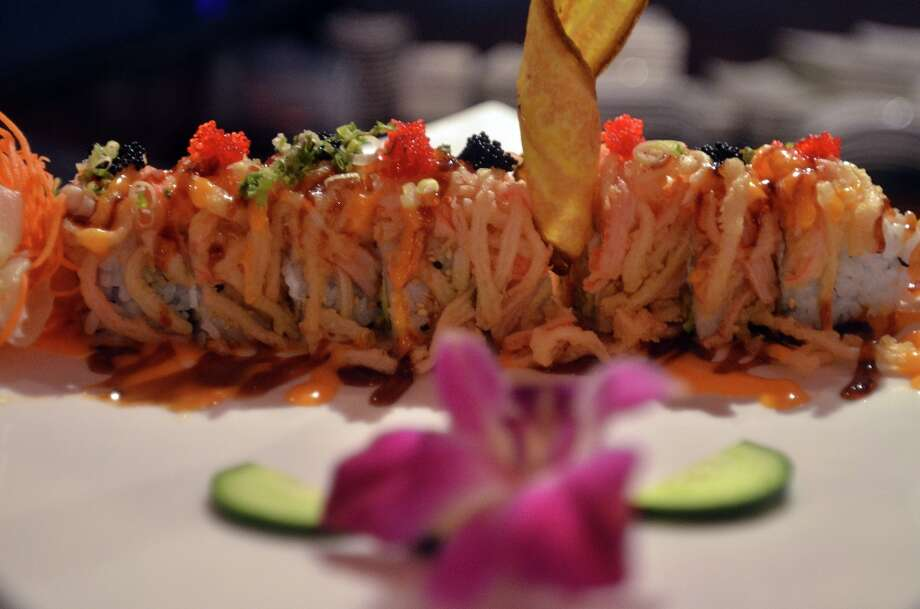 The Halloween roll at Ichiban, made with shrimp tempura, cream cheese and several other fresh ingredients. Beth Rankin/cat5 Photo: Beth Rankin / Beth Rankin