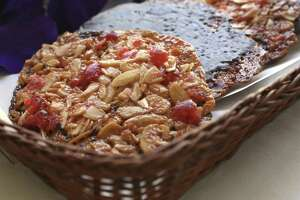 The Florentines  at Crumpets consist mostly of almonds and candied cherries with a caramel-like base.