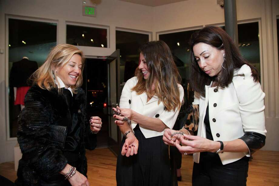 Kathryn Lasater, Ali Sonsini and Gina Peterson at the Rona Pfeiffer Trunk Show at Curve in San Francisco on February 11, 2014. Photo: Drew Altizer, Drew Altizer Photography