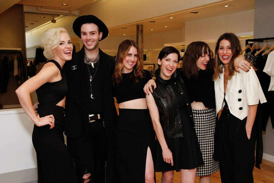 Cara Michelle Connor, Christopher Canfield, Brie Sparkwood, Nevena Borissova, Shannon Jett and Ali Sonsini at the Rona Pfeiffer Trunk Show at Curve in San Francisco on February 11, 2014. Photo: Drew Altizer, Drew Altizer Photography