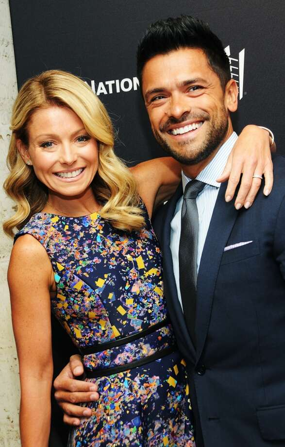 Kelly Ripa and Mark Consuelos'Live! with Kelly and Michael' host Kelly Ripa and actor Mark Consuelos met on the set of the now-defunct ABC soap opera 'All My Children' when he was cast as her love interest. The couple were married in 1996 and went on to have three kids. Photo: Desiree Navarro, WireImage