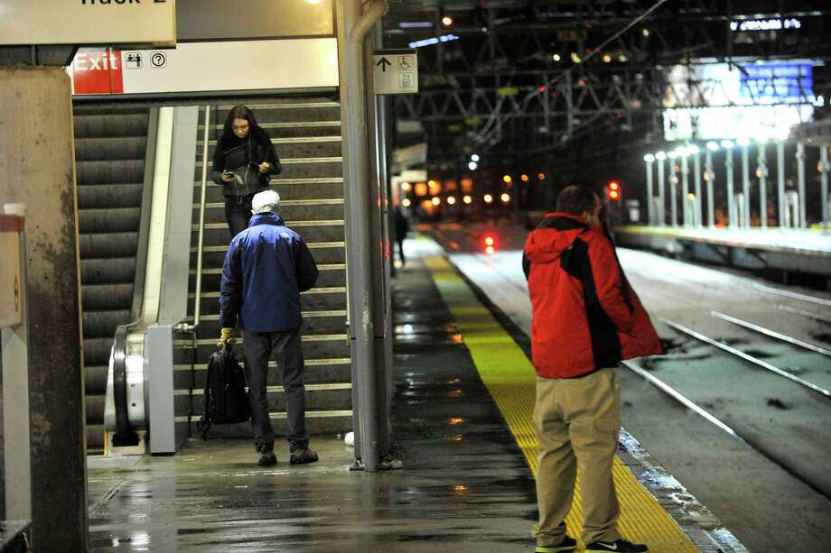 Metro-North Railroad operated at a reduced schedule due to the storm and reduced ridership during the snow storm in Stamford, Conn., on Thursday, Feb. 13, 2014. Photo: Jason Rearick / Stamford Advocate
