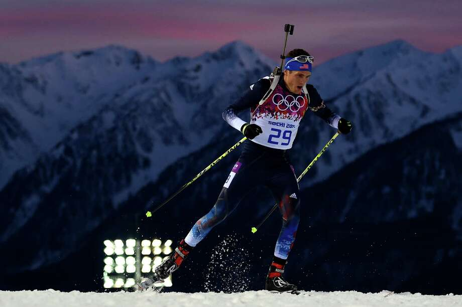 SOCHI, RUSSIA - FEBRUARY 13:  Tim Burke of the United States competes in the Men's Individual 20 km during day six of the Sochi 2014 Winter Olympics at Laura Cross-country Ski & Biathlon Center on February 13, 2014 in Sochi, Russia.  (Photo by Lars Baron/Getty Images) ORG XMIT: 461577713 Photo: Lars Baron / 2014 Getty Images