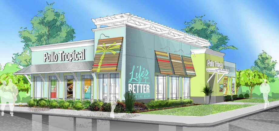 Taco Cabana's sister brand, Pollo Tropical, soon will open its first San Antonio restaurant at Chase Hill Boulevard and Loop 1604. The Miami-based chain offers Caribbean-inspired cuisine including platters, sandwiches and wraps. Photo: Illustration Courtesy Of Pollo Tropical