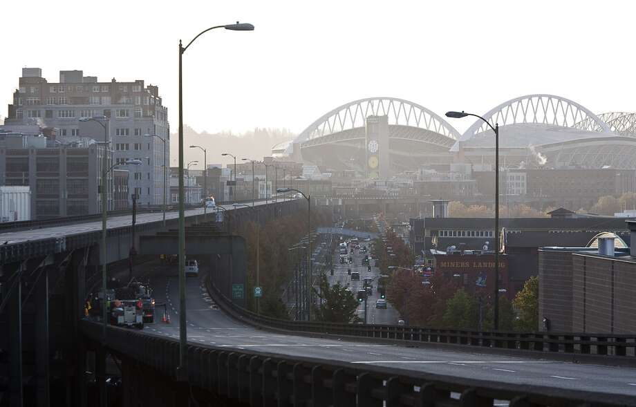 Say you love the viaduct and wish it could be fixed instead of torn down, especially since the waterfront will soon be filled with condos for rich people. Photo: Stephen Brashear, Getty Images
