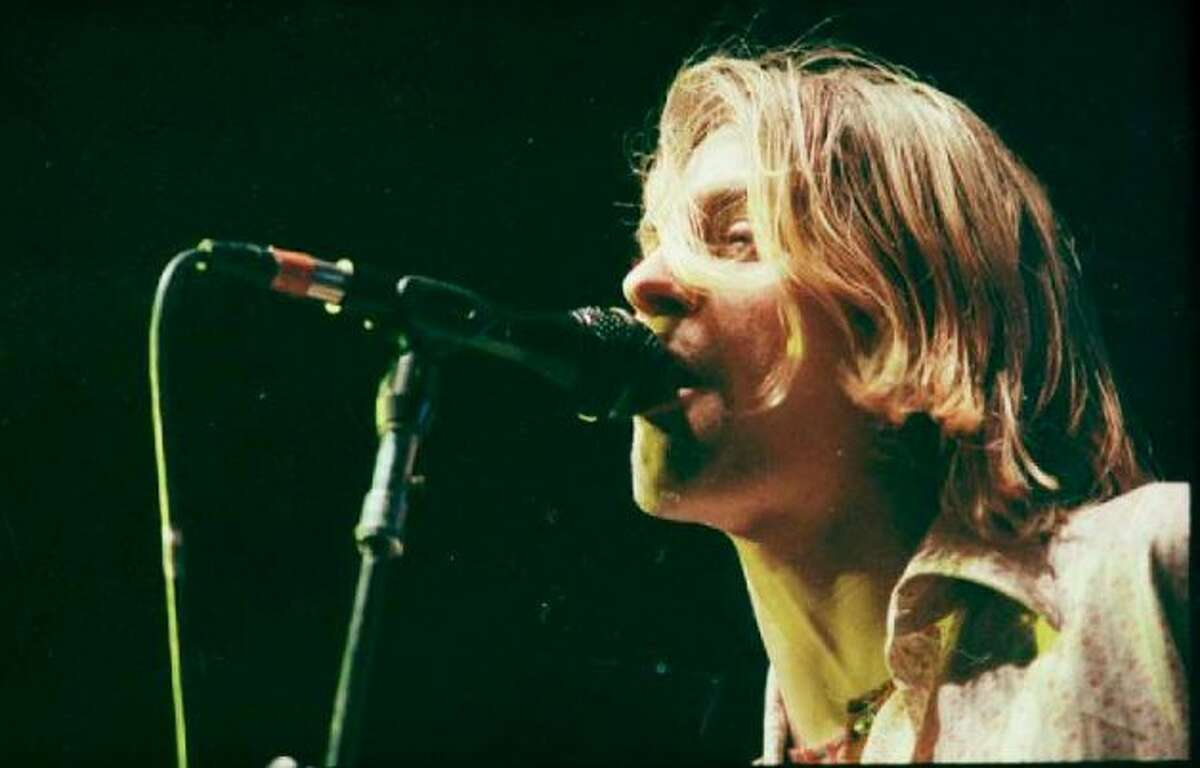 Purposefully don't talk about grunge music or Cobain. Photo: Kurt Cobain performs at Seattle Center Arena as part of Nirvana's In Utero tour Jan. 7, 1994. Kurt Smith/Copyright MOHAI, Seattle Post-Intelligencer Collection