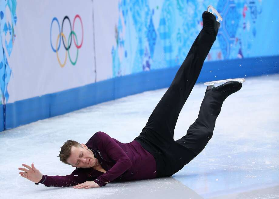 SOCHI, RUSSIA - FEBRUARY 13:  Jeremy Abbott of the United States falls while competing during the Men's Figure Skating Short Program on day 6 of the Sochi 2014 Winter Olympics at the at Iceberg Skating Palace on February 13, 2014 in Sochi, Russia.  (Photo by Robert Cianflone/Getty Images)  *** BESTPIX *** Photo: Robert Cianflone, Getty Images