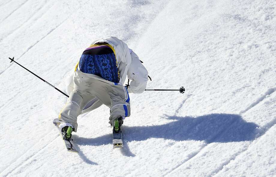 At least he washed his shorts: Sweden's Henrik Harlaut loses balance, his pants and any chance of medaling in the Men's Freestyle Skiing Slopestyle competition at the Sochi Winter Olympics. Photo: Javier Soriano, AFP/Getty Images