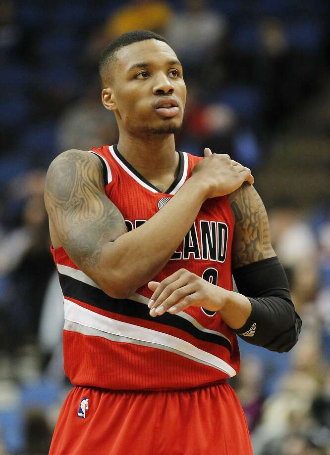 Damian Lillard will open his weekend by playing in the rising stars challenge. Photo: Andy Clayton-king, Associated Press