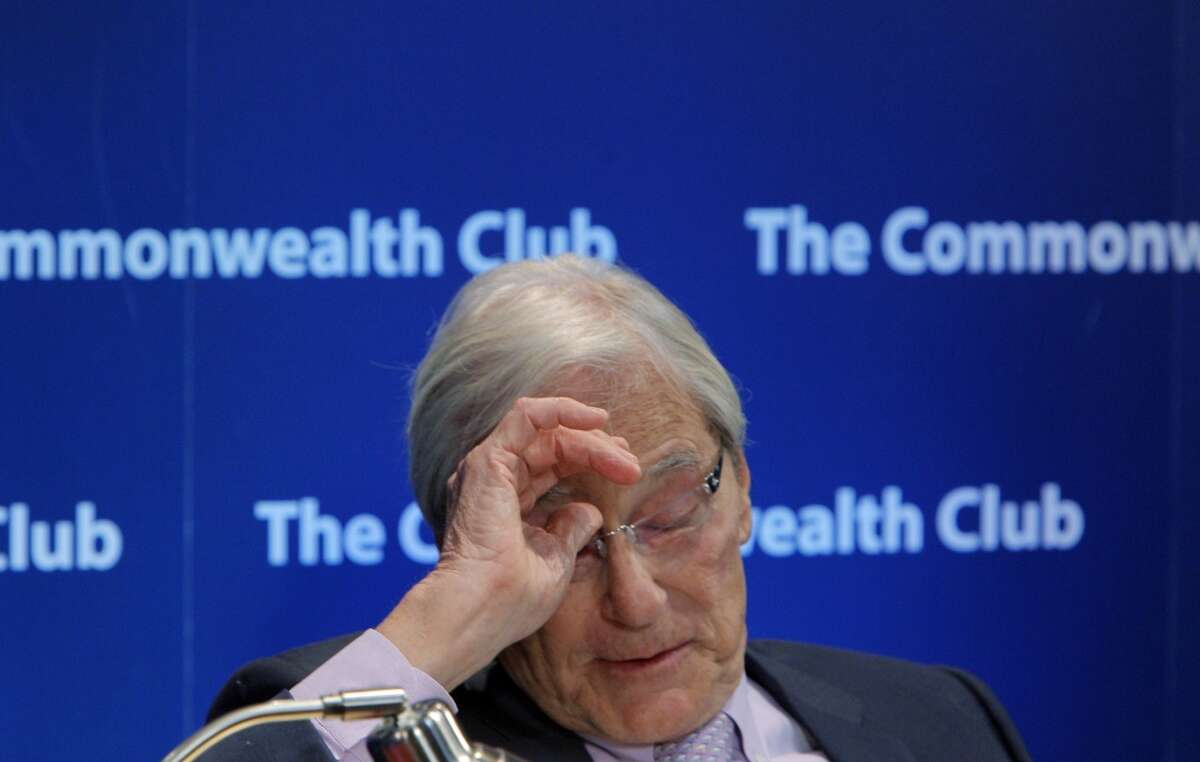 Tom Perkins, the co-founder of Kleiner Perkins Caufield and Byers, spoke with Adam Lashinsky, (not pictured) Senior Editor at Large, Fortune, at the Commonwealth Club in San Francisco, Calif., on Thursday, February 13, 2014, about his controversial letter to the Wall Street Journal about the War on the 1%.