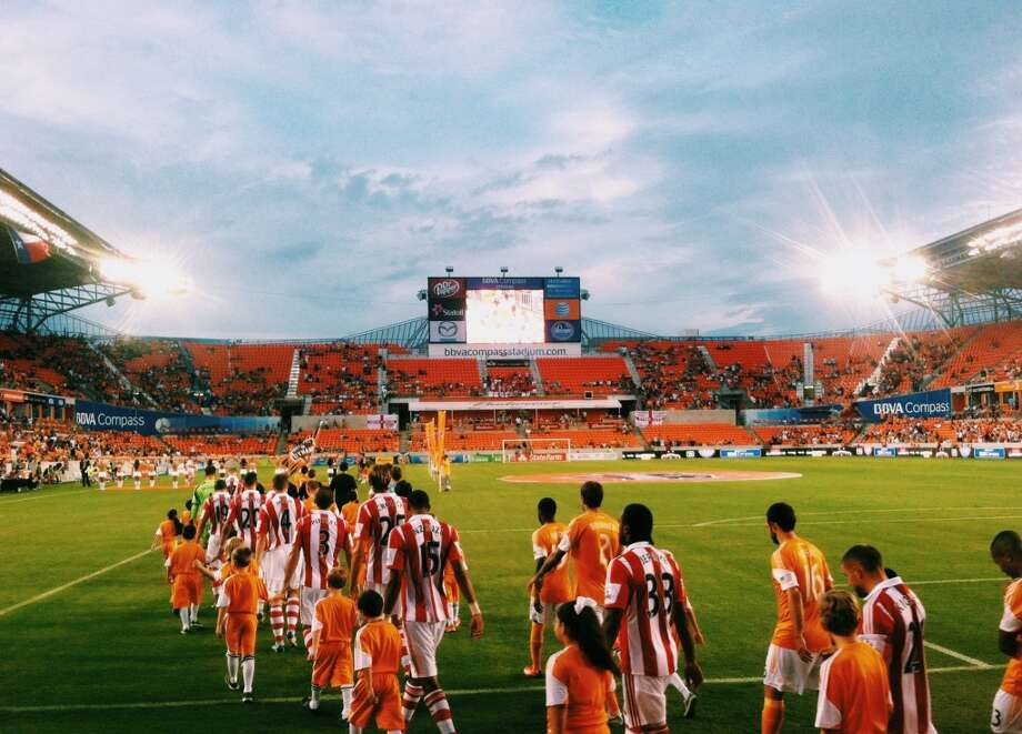 Houston has put it's name on the map as one of the most passionate sporting cities in the country, and I for one am proud to be a part of it. Dynamo Charities Cup at BBVA Compass Stadium July 24, 2013Lupe Martinez