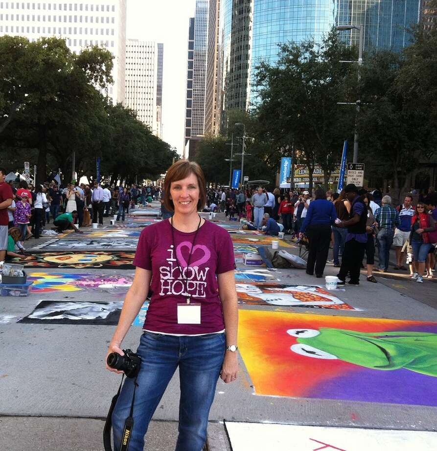 Houston can boast amazing outdoor art festivals. One of my favorite is Via Colori, the street art chalk festival fundraiser for Center for Hearing and Speech. I love the creativity and bright colors -- before it gets washed away forever!Vicki Powers