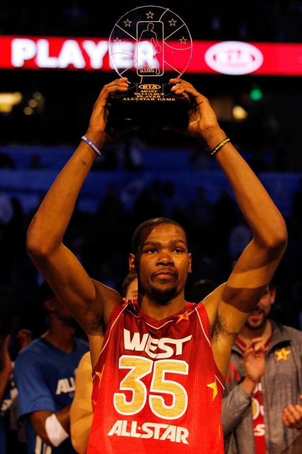 2012 - Kevin Durant West 152, East 149 Orlando 36 points, 7 rebounds, 3 assists and 3 steals Photo: Ronald Martinez, Getty Images