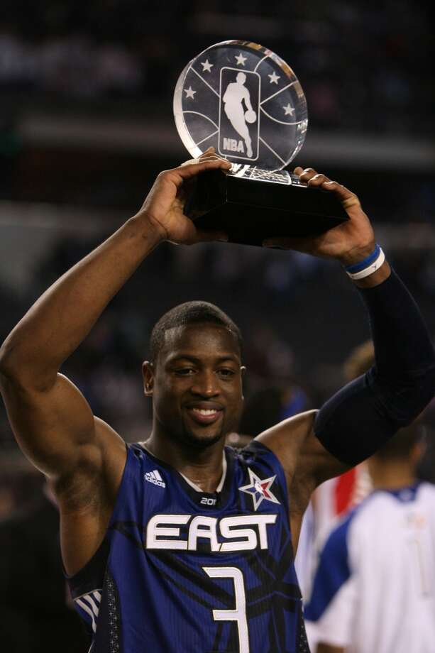 2010 - Dwyane Wade East 141, West 139 Arlington 28 points, 11 assists, 6 rebounds and 5 steals Photo: Billy Smith II, Chronicle