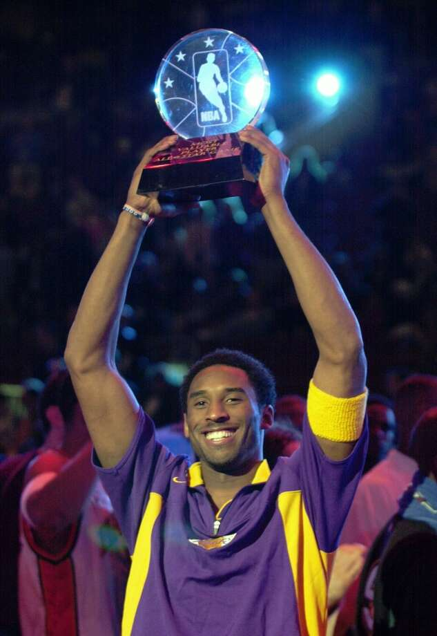 2002 - Kobe Bryant West 135, East 120 Philadelphia 31 points, 5 rebounds, 5 assists and 1 steal Photo: CHRIS GARDNER, AP