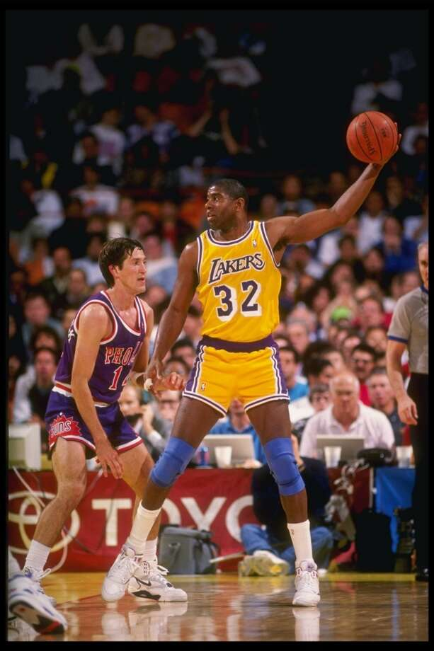 1990 - Magic Johnson East 130, West 113 Miami 22 points, 6 rebounds, 4 assists and 1 block Photo: Stephen Dunn, Getty Images