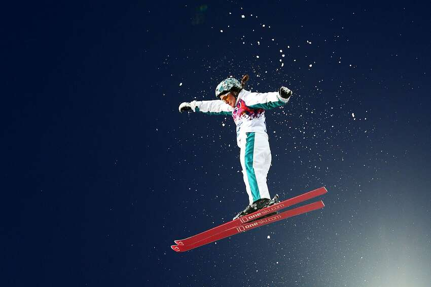 Samantha Wells of Australia competes in the Freestyle Skiing Ladies' Aerials Qualification on day seven of the Sochi 2014 Winter Olympics at Rosa Khutor Extreme Park on February 14, 2014 in Sochi, Russia.