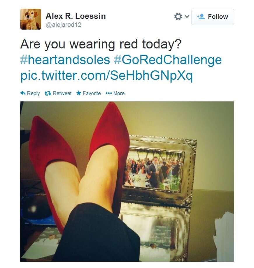 "Houstonians Put Their Best Feet Forward for National Wear Red Day® with Memorial Hermann Heart & Vascular Institute's ""Heart & Soles"" Photo: Memorial Hermann"