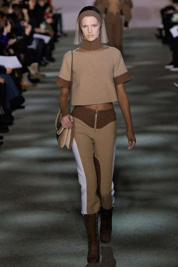 A model walks the runway at Marc Jacobs during Mercedes-Benz Fashion Week Fall 2014 at Lexington Avenue Armory on February 13, 2014 in New York City. Photo: Randy Brooke, WireImage