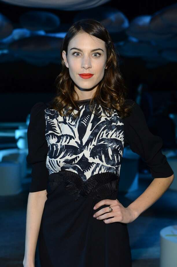 Alexa Chung attends the Marc Jacobs fashion show during Mercedes-Benz Fashion Week Fall 2014 at Lexington Avenue Armory on February 13, 2014 in New York City. Photo: Dimitrios Kambouris, Getty Images For Marc Jacobs