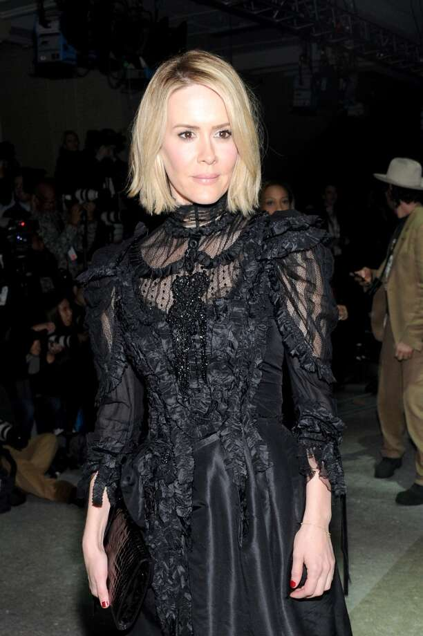 Actress Sarah Paulson attends the Marc Jacobs fashion show during Mercedes-Benz Fashion Week Fall 2014 at Lexington Avenue Armory on February 13, 2014 in New York City. Photo: Jamie McCarthy, Getty Images For Marc Jacobs