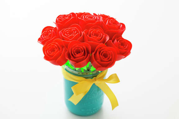 3-D printed roses from MakeShop (MakeShop)