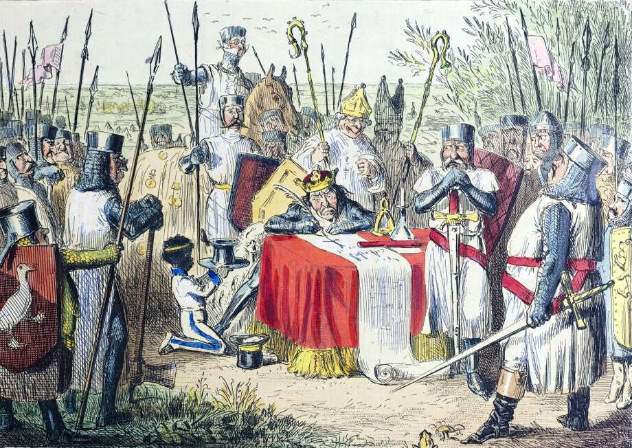 King John signed Magna Carta at Runnymede, a water-meadow (yes, water-meadow) in Surrey, about 20 miles west of central London. Photo: Andrew Howe, Getty Images
