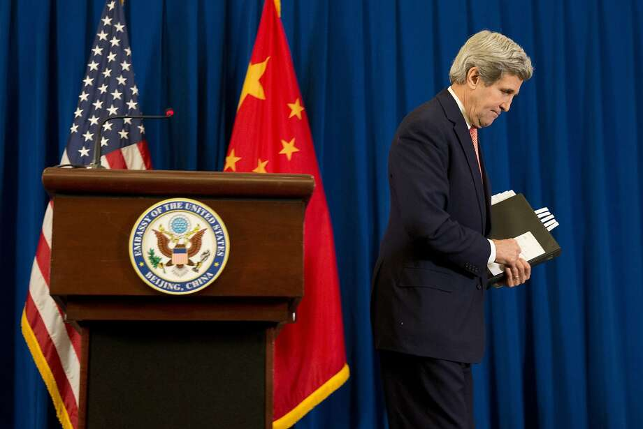 Secretary of State John Kerry says China has pledged to work to stabilize the region. Photo: Evan Vucci, Associated Press