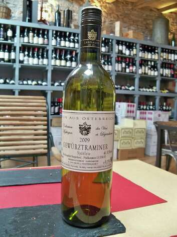 "Gewürtztraminer (guh-VURTS-trah-mee-ner): A white-wine grape that elicits crisp, spicy notes and ranges from dry to sweet. Audio: Click here to hear the term ""Gewürtztraminer."" Photo: Wikimedia Commons"