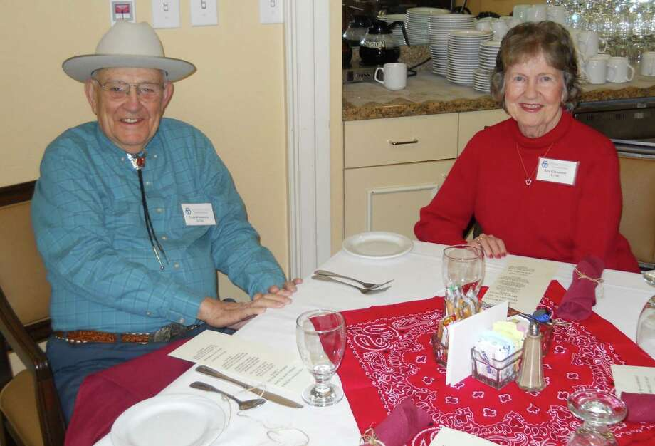 Lynn and Rita Kinnamon, residents at Parkway Place, are delighted to partake in the Texas spirit that encompasses the Go Texan Day celebration at the community.