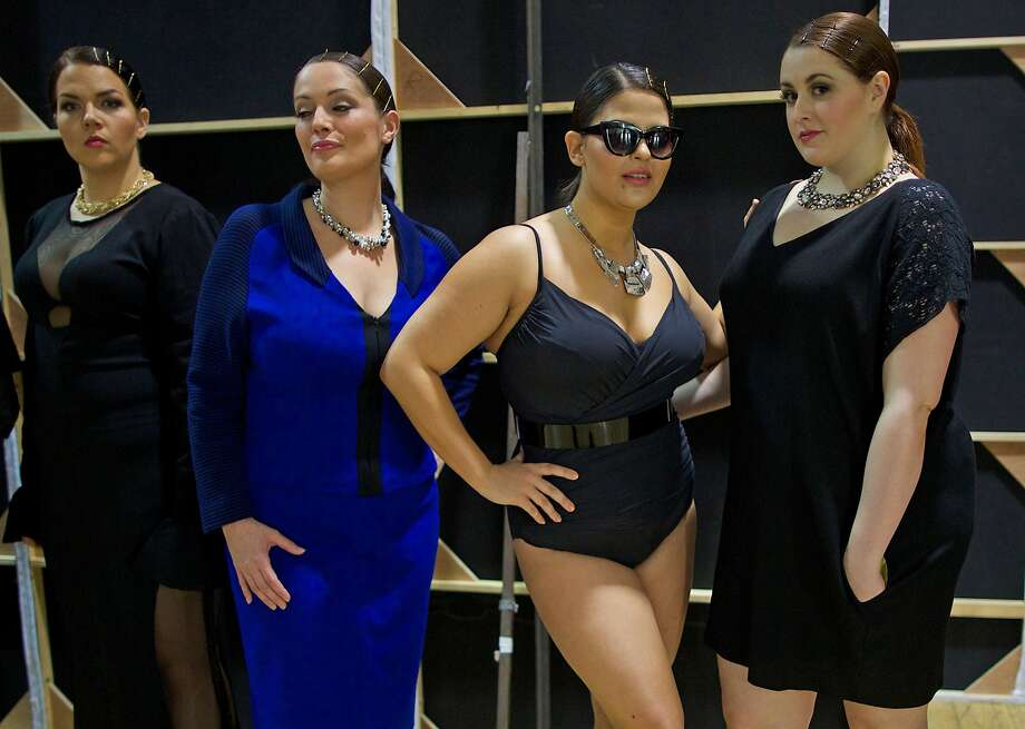 Haute couture for the curvy: British Plus Size Fashion Week get under way in London for those who believe bigger is better. Photo: Andrew Cowie, AFP/Getty Images