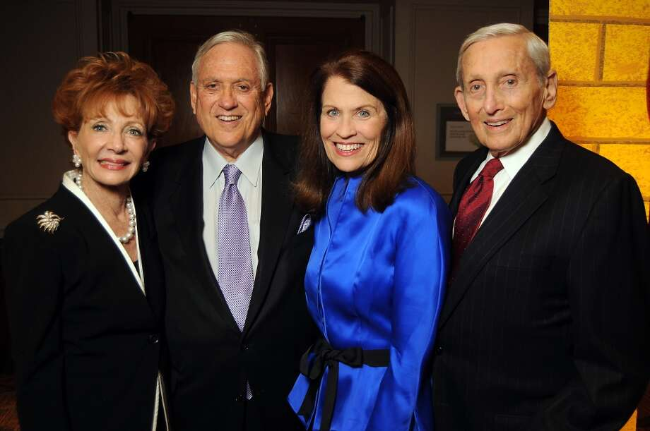 """From left: Honorees Diana Brackman, Arthur Schechter, Ann Friedman and S. Conrad """"Connie"""" Weil Jr. at the Seven Acres Jewish Senior Care Services'  """"There's No Place Like Home"""" 2014 gala at the Westin Galleria Hotel Saturday Feb 08, 2014. Photo: Dave Rossman, For The Houston Chronicle"""