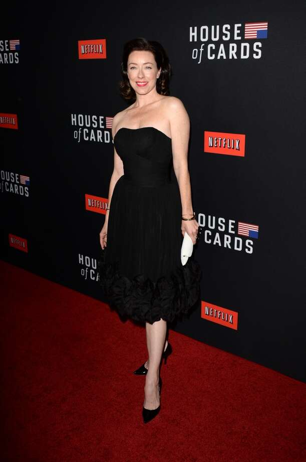 """Actress Molly Parker arrives at the special screening of Netflix's """"House of Cards"""" Season 2 at the Directors Guild of America on February 13, 2014 in Los Angeles, California. Photo: Jason Merritt, Getty Images"""