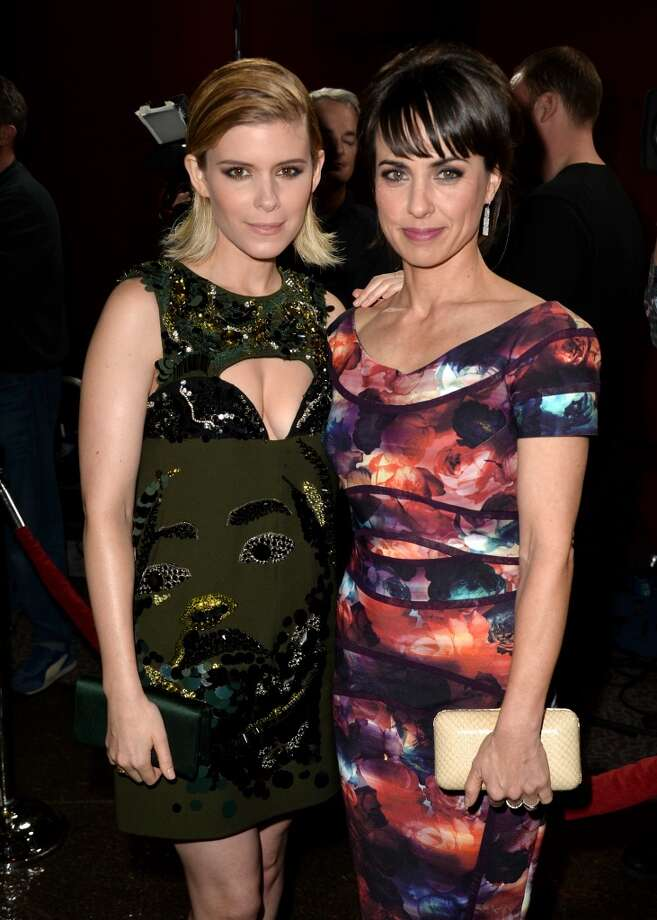 "Actresses Kate Mara (L) and Constance Zimmer arrive at the special screening of Netflix's ""House of Cards"" Season 2 at the Directors Guild Of America on February 13, 2014 in Los Angeles, California. Photo: Kevin Winter, Getty Images"