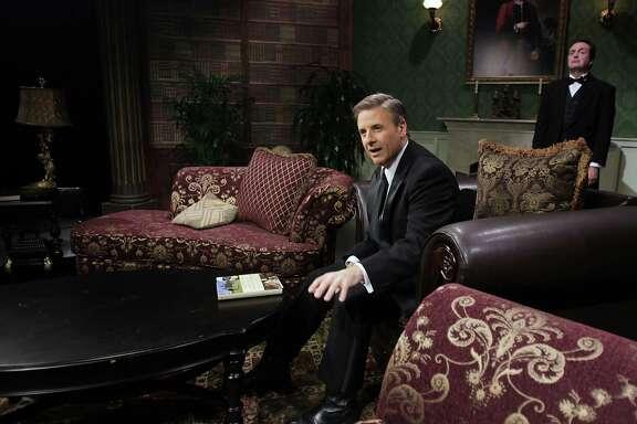 """""""Manor of Speaking"""" host Ernie Manouse, left, fields questions from fans of """"Downton Abbey"""" with the help of """"butler"""" Luke Wrobel on HoustonPBS."""