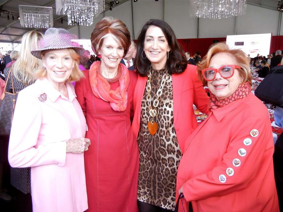 Protocol Chief Charlotte Shultz (at left) with lunch co-founders Judy Guggenhime and Pamela Baer and event co-founder Ellen Magnin Newman Photo: Catherine Bigelow